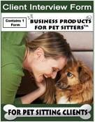 Pet Sitting Interview Intake Form